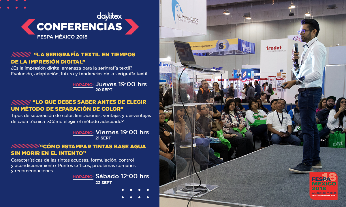 Conferencias Daytitex, FESPA 2018