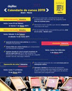 Calendario Cursos Enero a Marzo 2019