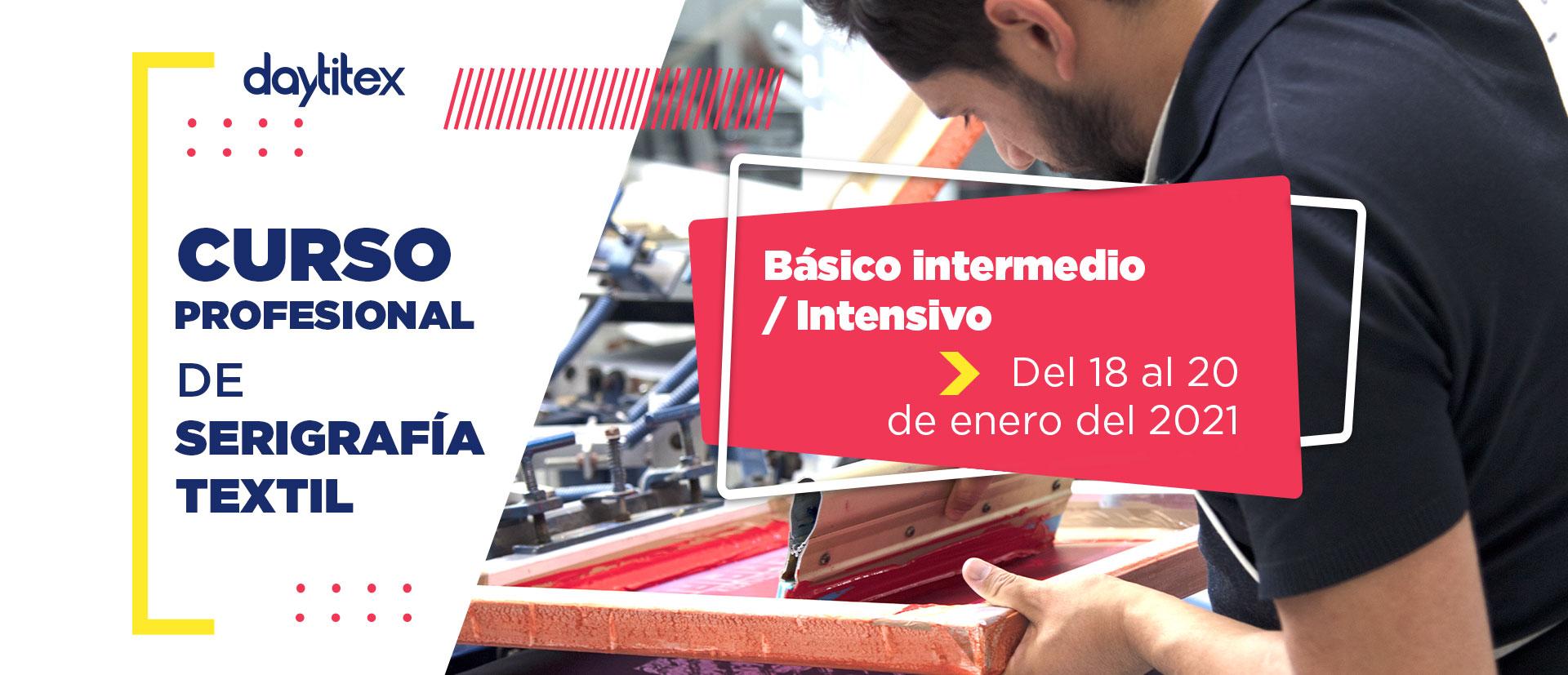 Curso Profesional de Serigrafía Textil Enero 2021
