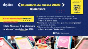 Curso Profesional de Serigrafía Textil Diciembre 2020