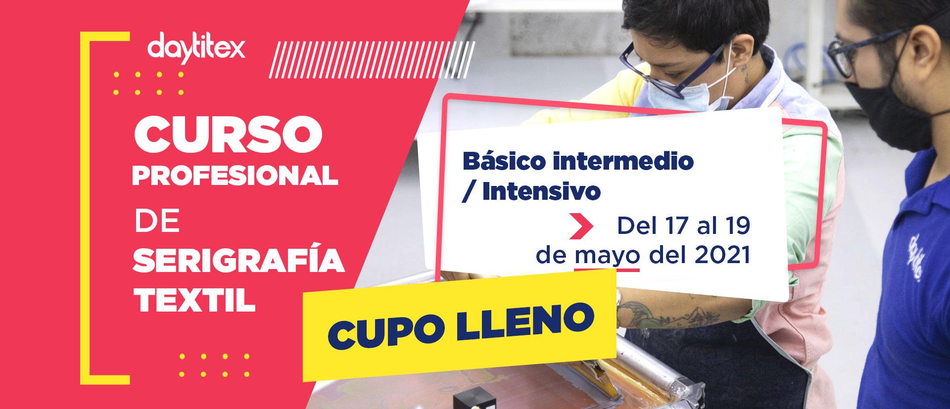 Curso Profesional de Serigrafía Textil Mayo 2021